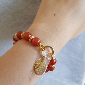 Henri Bendel Influencer Semi Bead Stretch Bracelet